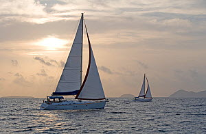 Sunsail Oceanis 423 and 523 sailing in the BVI's, March 2006.  -  Billy Black