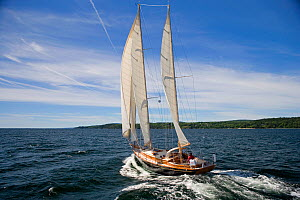 French and Webb yacht ^Wings of Grace^ sailing near Belfast, Maine.  -  Billy Black