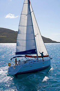 Sunsail yacht cruising in the British Virgin Islands, March 2006. Model and property released.  -  Billy Black