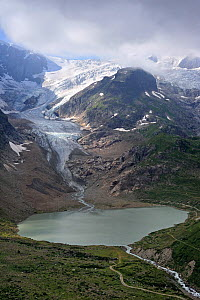 Glacial lake formed by the retreating Stein Glacier / Steingletscher, Urner Alps, Switzerland, July 2009  -  Philippe Clement