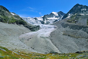 Lateral moraines of the reducing Moiry Glacier, Pennine Alps, Valais, Switzerland, July 2009 - Philippe Clement