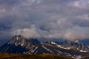 Clouds above Mount Svinica (2,301m) and Mount Kozi Wierch (2,291m) at sunset, High Tatras, Carpathian Mountains, Slovakia, June 2009  -  Wild Wonders of Europe / D'Amicis