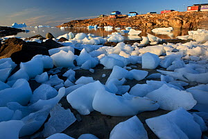 Coastal ice near Saqqaq, Greenland, August 2009  -  Wild Wonders of Europe / Jensen