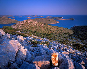 View from Levrnaka Island, Kornati National Park, Croatia, May 2009  -  Wild Wonders of Europe / Popp-Hackner