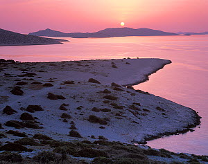 View from Ravni Zakan Island at sunset, Kornati National Park, Croatia, May 2009  -  Wild Wonders of Europe / Popp-Hackner