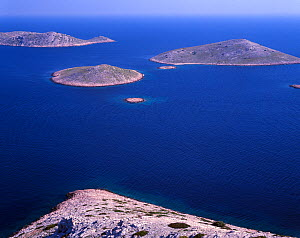 View from Skulje Island, Kornati National Park, Croatia, May 2009  -  Wild Wonders of Europe / Popp-Hackner