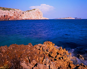 Steep cliffs of Mana Island, Kornati National Park, Croatia, May 2009  -  Wild Wonders of Europe / Popp-Hackner