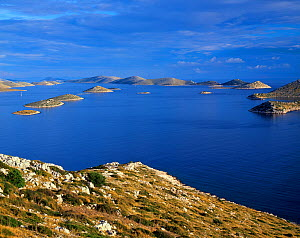 View from Levrnaka Island to the south, Kornati National Park, Croatia, May 2009  -  Wild Wonders of Europe / Popp-Hackner