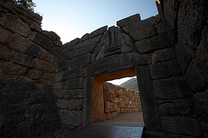 The Lion gate in the ruins of Mycenae, The Peloponnese, Greece, May 2009  -  Wild Wonders of Europe / Ziegler