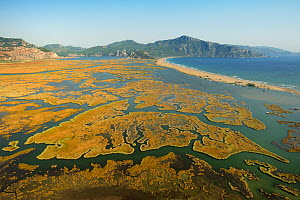 Aerial view of the Dalyan Delta, Turkey, August 2009 - Wild Wonders of Europe / Zankl