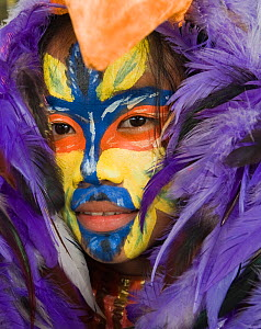 Portrait of a dancer at the Candaba Bird Festival, Luzon, Philippines, March 2009 - David Tipling