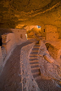 Gila Cliff Dwellings National Monument, southwestern New Mexico, USA. Long-abandoned homes of the Mogollon people. 2009. - Steven Kazlowski
