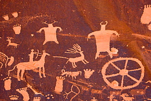 Petroglyphs on Newspaper Rock, a boulder in Canyonlands National Park, Utah, USA. 2009. - Steven Kazlowski
