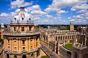 Radcliffe Camera and All Souls College, viewed from St Mary the Virgin Church, Oxford, UK. June 2009.  -  Merryn Thomas