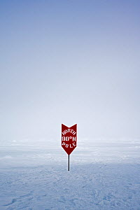 Sign showing the location of the North Pole, June 2008  -  Sue Flood