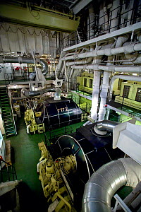"Engine room of world's largest nuclear icebreaker, ""NS 50 Let Pobedy"" (50 Years of Victory) August 2008 - Sue Flood"