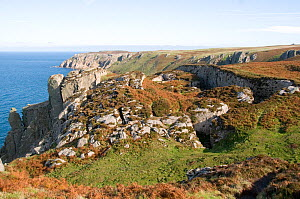 The Lundy earthquake, on Lundy's west coast, apparently formed the same time as the Lisbon earthquake of 1st November 1755, Lundy Island, Bristol Channel, UK  -  Will Watson