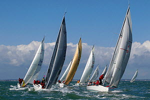 Fleet racing at Spi Ouest-France, La Trinite sur Mer, Brittany, France. April 2010. - Benoit Stichelbaut