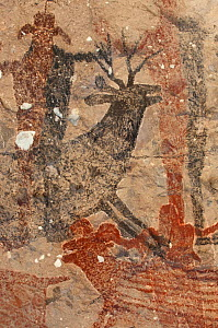 Ancient cave paintings of people, deer and wild sheep, Sierra de San Francisco, Baja California, Mexico - Patricio Robles Gil