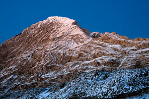 Light snow on Prutas peak, Durmitor NP, Montenegro, October 2008  -  Wild Wonders of Europe / Radisics