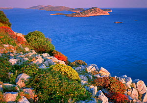 Coastal landscape, Kornati National Park, Mana Island, Croatia, May 2009. WWE INDOOR EXHIBITION  -  Wild Wonders of Europe / Popp-Ha