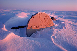 Grave of Alex Elder who died on Parry's expedition in 1823. Igloolik, Nunavut, Canada, 1990. - Bryan and Cherry Alexander