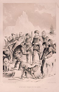 Captain John Ross first meeting the Eskimos on his expedition of 1818.  -  Bryan and Cherry Alexander