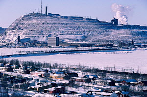 Slag heap from Iron Ore mining at the industrial town of Kiruna, Sweden.  -  Bryan and Cherry Alexander