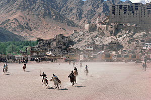 Polo game at Leh, the capital of Ladakh, India, 1986. - Bryan and Cherry Alexander