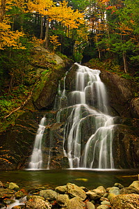 Moss Glen Falls, in the Green Mountains, Granville Reservation State Park. Vermont, USA. October 2009  -  Jerry Monkman