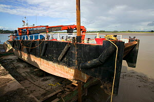 Dry dock at Bulls Pit. Severn Estuary. England, August 2009 - David Woodfall