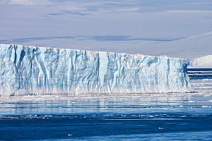 Edge of sea ice / iceberg, with visable striations, Weddell sea, Antarctica, November 2009  -  Sue Flood
