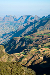 Aerial view in the Simien Mountains, Ethiopia, November 2007 - Barrie Britton
