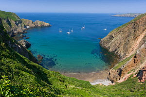 Bay and beach of La Grande Greve, Sark, Channel Isles, UK, Summer 2009  -  Sue Daly