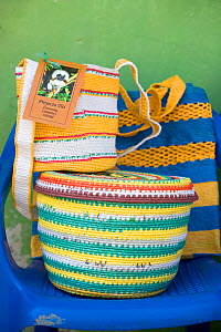 Mochilas and other products woven from recycled plastic bags. ~This project has recycled more than 1.5 million plastic bags and provides an income to the village living around the forest thereby prote...  -  Lisa Hoffner