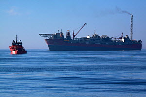 """The """"Jotun A"""" F.P.S.O. (floating production storage and offloading) ship, North Sea, May 2010.  -  Philip Stephen"""