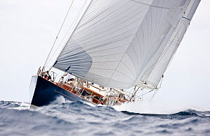 "Ketch ""Rebecca"" sailing at the Panerai Antigua Classic Yacht Regatta, Caribbean, April 2010.  -  Onne van der Wal"