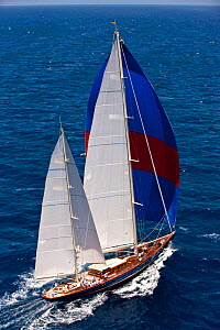 "Classic ketch ""Rebecca"" at the Panerai Antigua Classic Yacht Regatta, Caribbean, April 2010.  -  Onne van der Wal"
