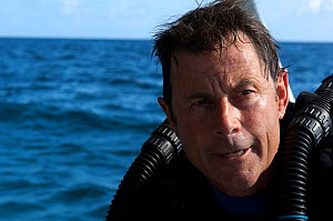 Portrait of cameraman Michael Pitts, whilst filming for BBC series 'Life' The Bahamas, Caribbean, February 2007 - Neil Lucas