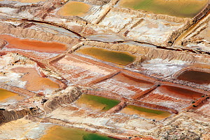 Aerial view of residues dumped from a metal mine, Johannesburg, South Africa, April 2009  -  Richard Du Toit