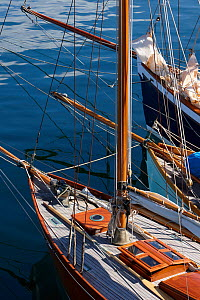 Classic yachts moored at Brest Classic Week, Brittany, France, July 2010.  -  Benoit Stichelbaut