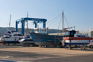 Boatyard at the Portland Marina. Dorset, England, 2010.  -  Rob Cousins