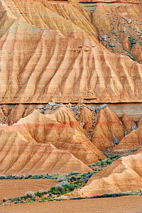 Rock formations (clay, gypsum and sandstone) in the Bardenas Reales Desert Natural Park, Navarra, Northern Spain, April 2010  -  Inaki Relanzon