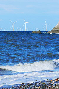 New wind farm offshore Colwyn Bay, North Wales. - Mike Potts