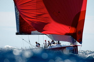 """All4One"" under spinnaker during the TP52 Audi Med Cup. Marseille, France, June 2010. - Franck Socha"