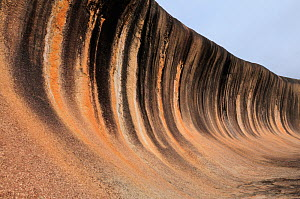 Wave rock, an eroded granite plateau, Hyden area, Western Australia. August 2009 - Jouan & Rius