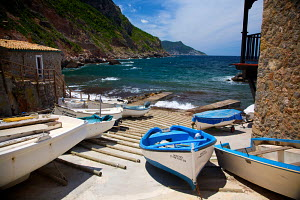 Small boats gathered by slipway, Mallorca, Spain, June 2009. - Charlie Dailey