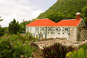 Church and museum, The Bottom, Saba Island in the Dutch Caribbean, Netherlands Antilles, West Indies. August 2006.  -  Michele Westmorland