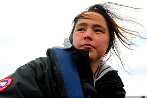 Portrait of young female Inuit guide, Nunavut, Canada, August 2010. Model released - Eric Baccega