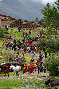 The Khampa herdsmen gather to participate in the horse festival, near Huangyan, in the Garze Tibetan Autonomous Prefecture in the Sichuan Province, China, June 2010 - Kristel Richard